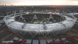 Olympics Stadium in London