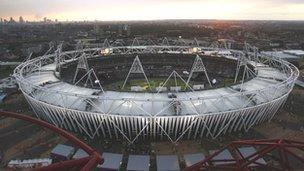 Olympics Stadium in London