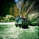 Truck crosses river in Upper Mustang (Photo by Tom Van Cakenberghe, 2012)
