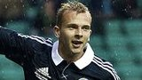 Jordan Rhodes celebrates after scoring for Scotland against Australia