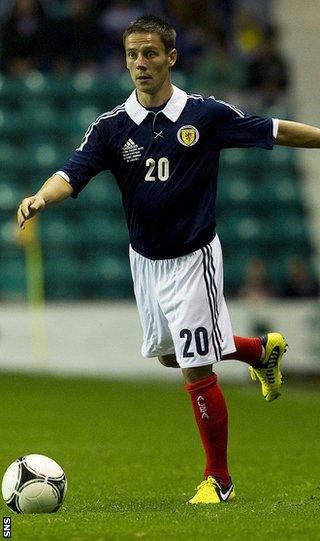 Scotland midfielder Ian Black