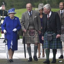 Prince Philip and the Queen in Aberdeenshire, Scotland