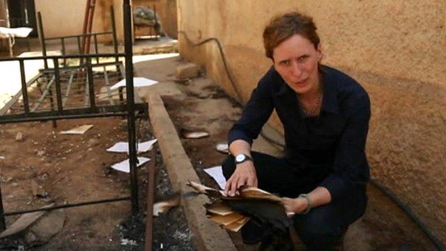 The BBC's Orla Guerin reports from Syria's Kurdish region