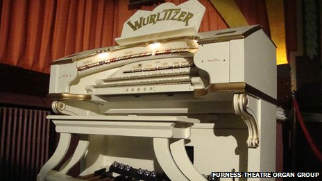 The Wurlitzer 2/7 organ