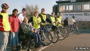 Pedal Power cycling club at Lee Valley Cycle Circuit in 2004 