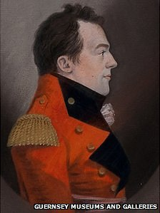 Major General Sir Isaac Brock pastel painting by Gerrit Schipper