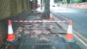 Gaps in the pavements