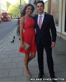 Melanie Sykes and Jack Cockings