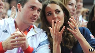 Kristian Thomas with the Duchess of Cambridge