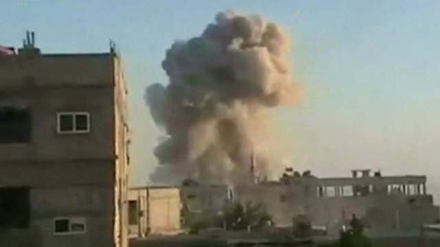 Explosion in Syrian town