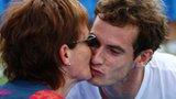 Andy Murray gives mum Judy a kiss