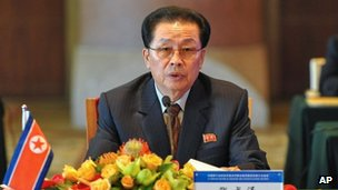 Chang Song-thaek during an economic meeting in Beijing