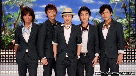 Japan's popular SMAP boy band