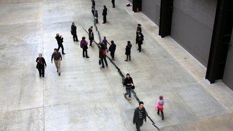 Shibboleth by Doris Salcedo at Tate Modern