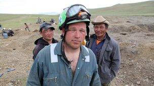 (L-R) Anga, Craig Notman, Sukhbaatar