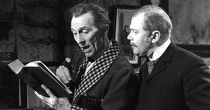 The Sign of Four starring Peter Cushing as Sherlock Holmes and Nigel Stock as Dr Watson