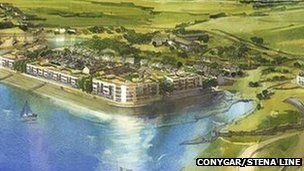 Artist's impression of how Holyhead marina will look