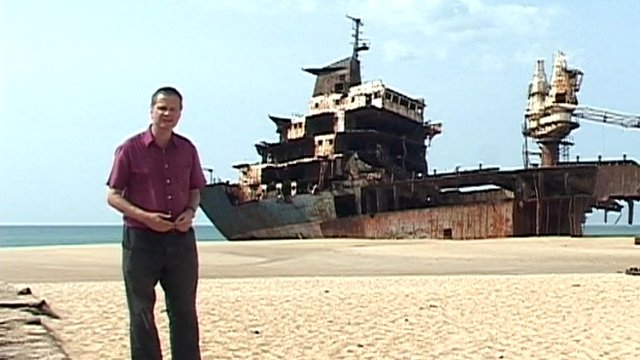 Huge abandoned ship in Sri Lanka 
