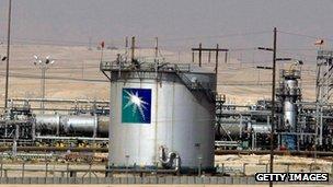 Saudi Aramco plant in Saudi Arabia