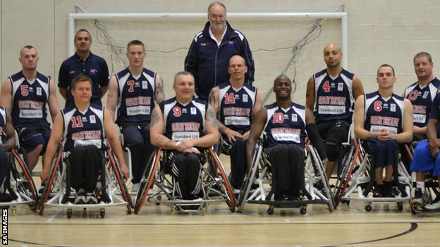 The GB men's wheelchair basketball team