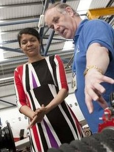 Chi Onwurah at Newcastle College Aviation Academy