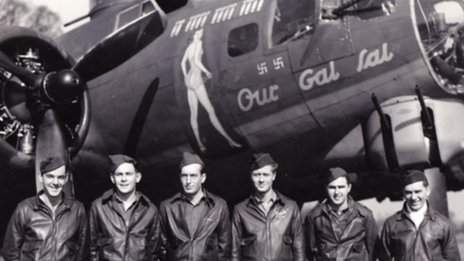 Crew of Our Gal Sal, part of the 100th Bomb Group at Thorpe Abbotts, Norfolk
