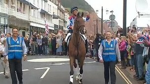 Mary King on Imperial Cavalier in Sidmouth