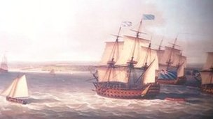 A painting of HMS Namur