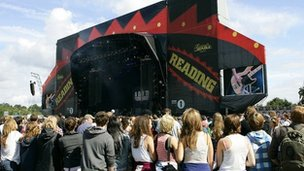 Reading Festival crowds