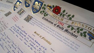 Preston Guild Scroll