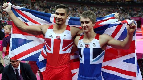 Olympic gymnasts Louis Smith and Max Whitlock