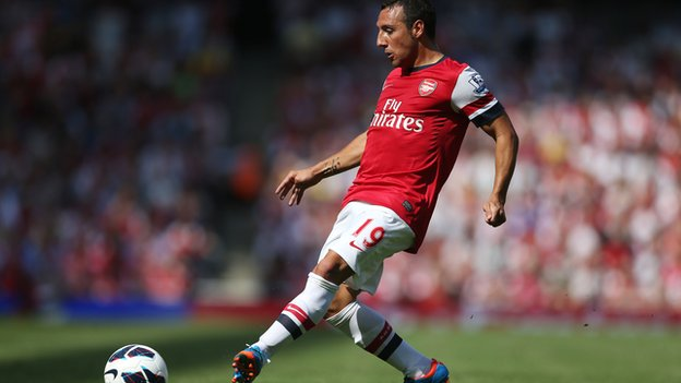 Santi Cazorla made his Arsenal debut