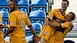 Motherwell celebrate their opening goal