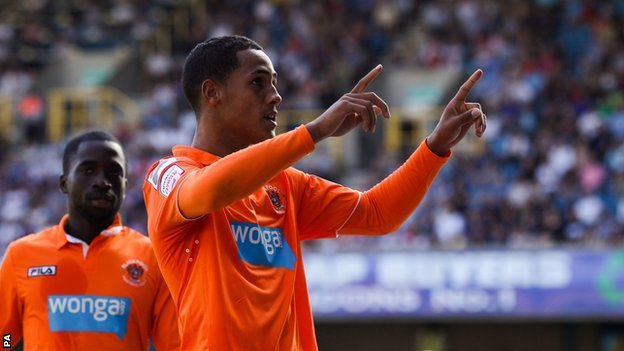 Blackpool goalscorer Tom Ince