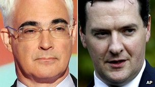Alistair Darling and George Osborne