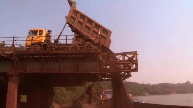 Indian mining truck