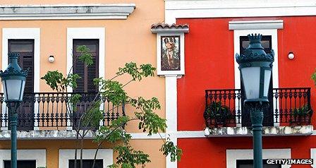 Street scene in Puerto Rico