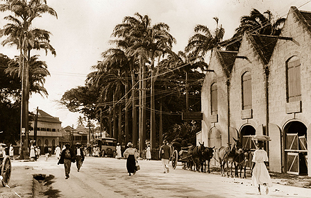 Bridgetown street scene in 1910