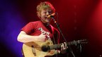 Ed Sheeran performing in The Arena at the V Festival in Hylands Park, Chelmsford