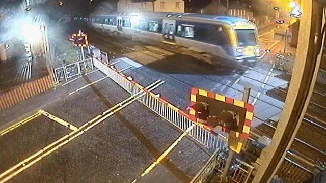 CCTV of train line