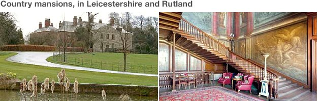 Country properties: Baggrave Hall; South Croxton, and Burley on the Hill, Rutland. Source: SFO.
