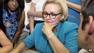 Sen Claire McCaskill in Clay County, MO (7 Aug 2012)