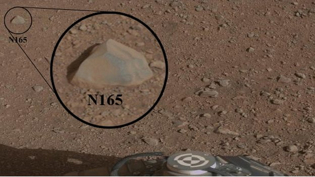 Rock on surface of Mars