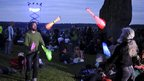 Jugglers at Stonehenge during the Solstice