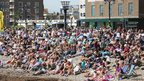 Crowds at Worthing Birdman
