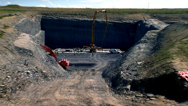 Construction work at the Dounreay storage site