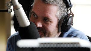 Chris Moyles in BBC studio
