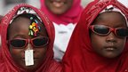 Nigeria Muslims attends Eid al-Fitr prayers at the Obalende prayer ground in Lagos