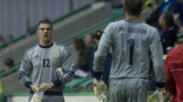 Matt Gilks replaces Allan McGregor against Australia at Easter Road