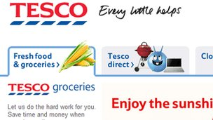 Tesco website